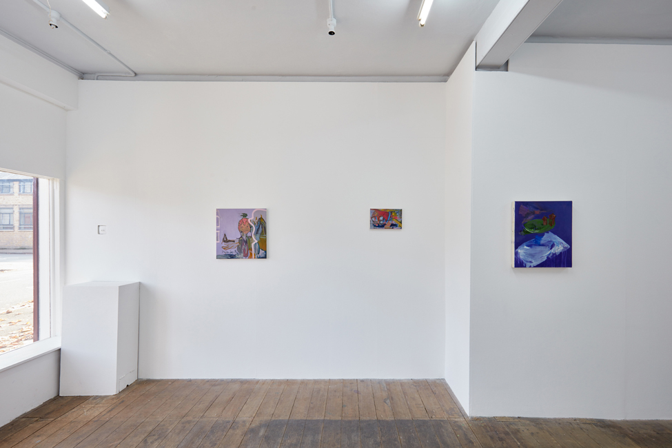 Installation view of Small Talk in the gallery space